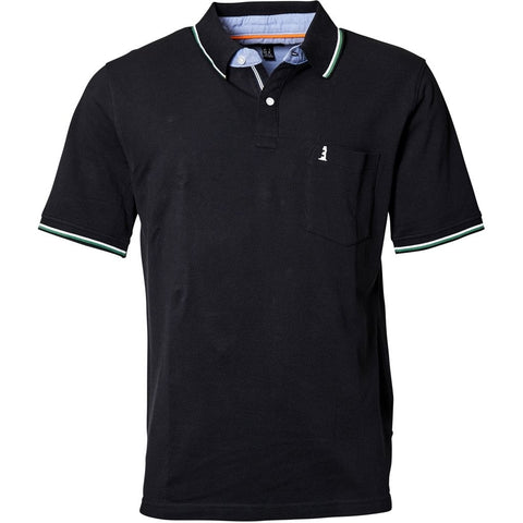North 56°4 / Replika Jeans (Regular) North 56°4 Polo w/contrast collar T-shirt 0099 Black