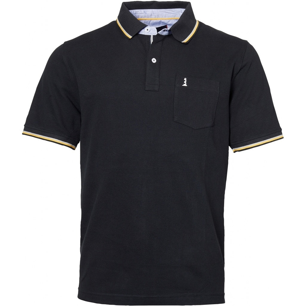 North 56°4 / Replika Jeans (Big & Tall) North 56°4  Polo w/contrast on collar T-shirt 0099 Black