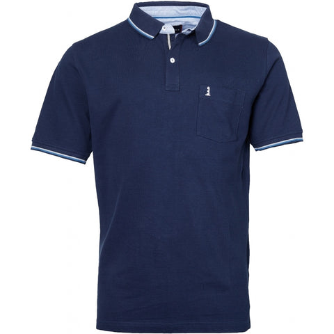 North 56°4 / Replika Jeans (Big & Tall) North 56°4  Polo w/contrast on collar T-shirt 0580 Navy Blue