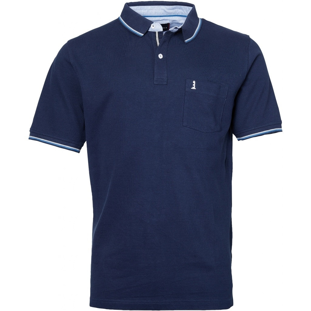 North 56°4 / Replika Jeans (Regular) North 56°4  Polo w/contrast on collar T-shirt 0580 Navy Blue