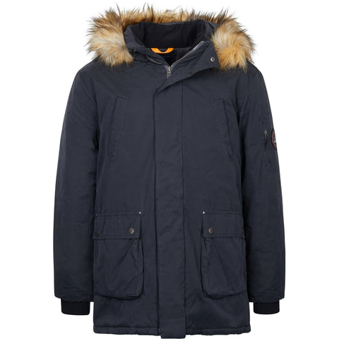 North 56°4 / Replika Jeans (Big & Tall) North 56°4 Parka w/detachable hood and fur Jacket 0099 Black