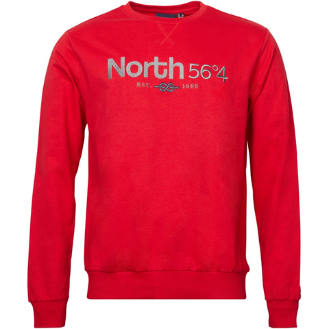 North 56°4 / Replika Jeans (Big & Tall) North 56°4 Sweatshirt w/ embrodery Sweatshirt 0300 Red