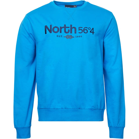 North 56°4 / Replika Jeans (Big & Tall) North 56°4 Sweatshirt w/ embrodery TALL Sweatshirt 0522 Skyway