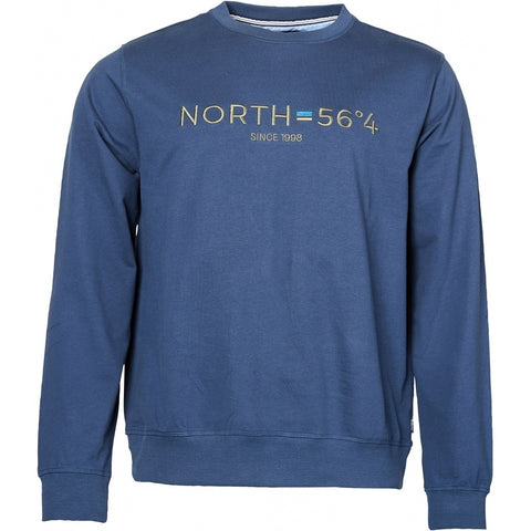 North 56°4 / Replika Jeans (Regular) North 56°4 Sweatshirt w/embroidery Sweatshirt 0580 Navy Blue