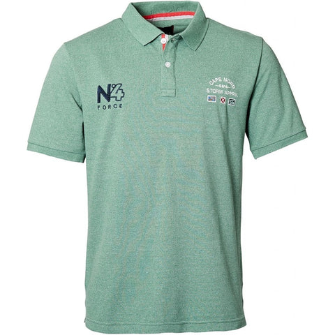 North 56°4 / Replika Jeans (Big & Tall) North 56°4 Polo w/embroidery T-shirt 0600 Green