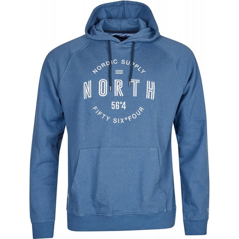 North 56°4 / Replika Jeans (Big & Tall) North 56°4 Sweat w/hood Sweatshirt 0555 Blue Melange