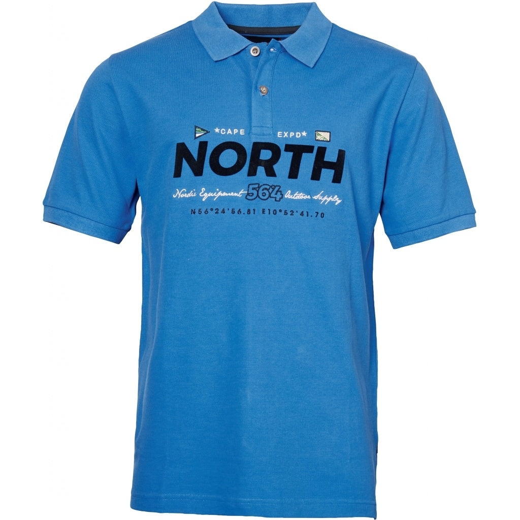 North 56°4 / Replika Jeans (Regular) North 56°4  Polo w/print and embroidery T-shirt 0540 Mid Blue