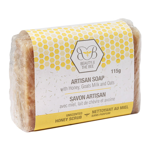 Beauty & The Bee Artisan Soap with Honey, Beeswax, Goats Milk & Oats 115gr