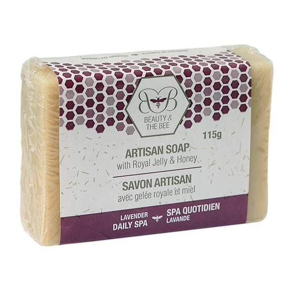 Beauty & The Bee Artisan Soap with Royal Jelly, Honey and Beeswax 115gr