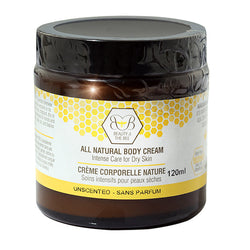 All Natural Beeswax Body Cream 120ml by Beauty and the Bee