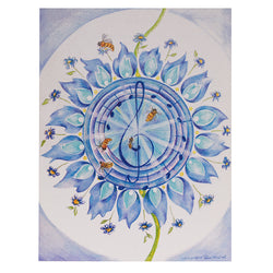 "Bee 5th Chakra Card 4.2""w x 5.25""l artist M. Courmont"