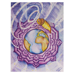 "Bee 7th Chakra Card 4.2""w x 5.25""l Artisit M. Courmont"