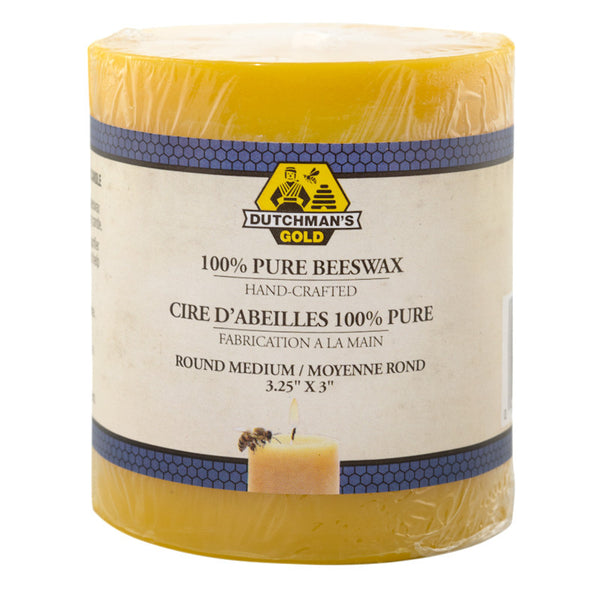 "Pillar Beeswax Candle 3"" x 3.25"""