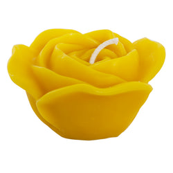 "Beeswax Rose Candle 4""w x 2.5""h"