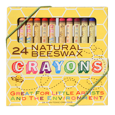 Beeswax Crayons Set Of 24 Non-Toxic
