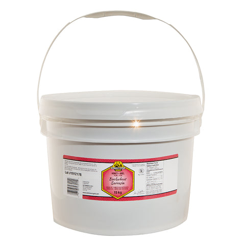 Buckwheat Honey 15kg Plastic Food Grade Pail Dutchman's Gold