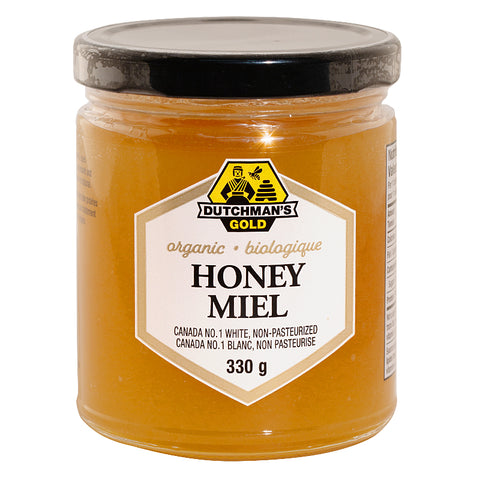 Organic Honey 330 gr Canada No1 white unpasturized Dutcham's Gold