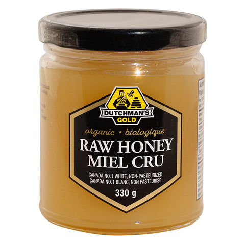 Organic Raw Honey 330gr Canada No1 white Dutchman's Gold