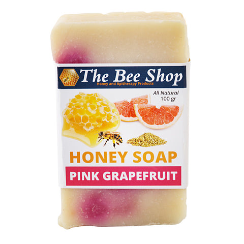 Honey Soap - Pink Grapefruit and Orange 100GR