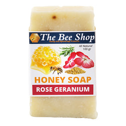 Honey Soap with Rose Geranium and Rosemary 100gr