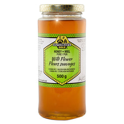 Wildflower Honey 500g Glass Jar Dutchman's Gold
