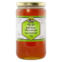 Wildflower Honey 1kg Glass Jar Dutchman's Gold