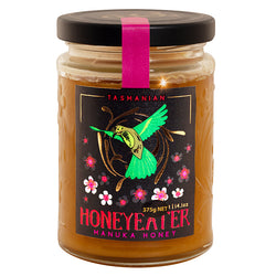 Manuka Honey 375gr Honeyeater Tasmanian Bronze Grade MGO 100 equivalent Product of Australia