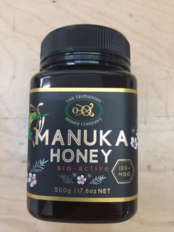 Manuka Honey 500gr Tasmanian Honey Company Bronze Grade MGO 100 Product of Australia
