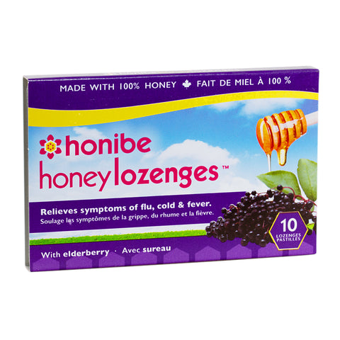 Honey Lozenges with Elderberry by Honibee