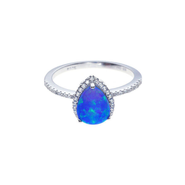 a41123d8e Blue Teardrop Opal Ring