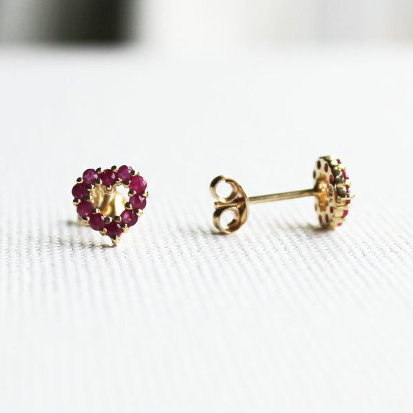 26f6ab1a7 Ruby Red Heart Earrings