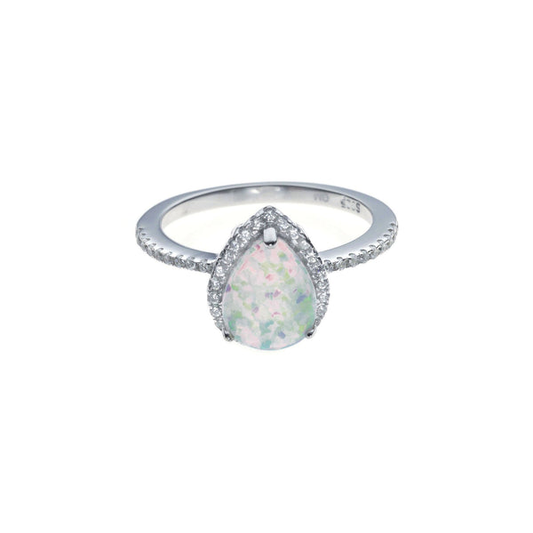 d72a96db0 White Teardrop Opal Ring