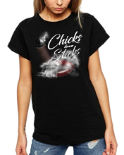 Discounted Chicks Love Sticks Cigar Theme Tee Shirt - Black