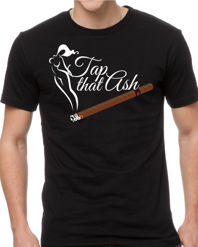 Copy of Tap That Ash Cigar Theme Tee Shirt - White or Black