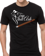 Tap That Ash Cigar Theme Tee Shirt - Black