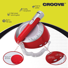 Croove Portable Bluetooth Karaoke Party System