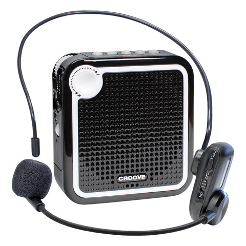 Wireless Voice Amplifier: Portable Rechargeable Microphone with Headset & Belt Clip - Ideal for Classroom Teachers & Tour Guides