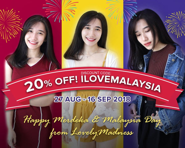 (ENDED)I Love Malaysia! 20% Discount for Merdeka and Malaysia Day