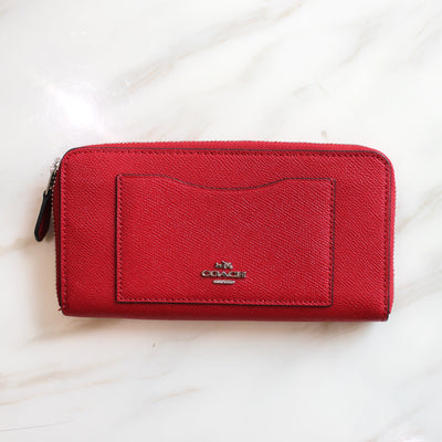 Coach long wallet red