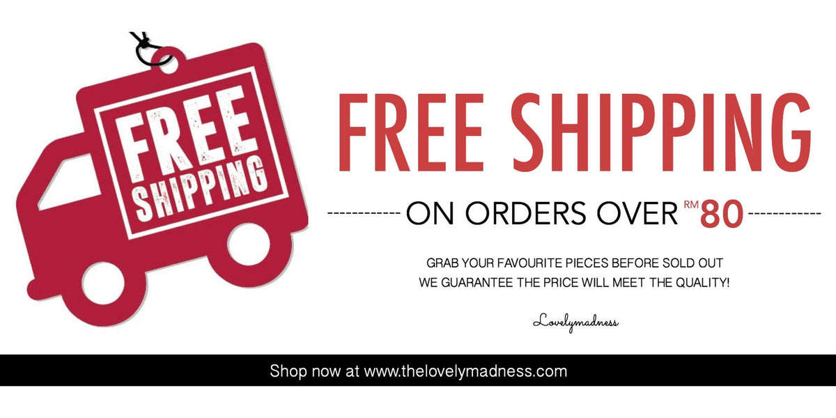 Free shipping on orders over RM80 - Malaysia Online Fashion Clothing