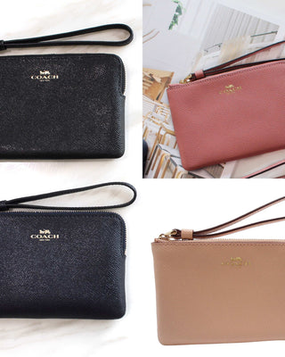 COACH CORNER ZIP WRISTLET IN CROSSGRAIN LEATHER - LovelyMadness Clothing Online Fashion Malaysia
