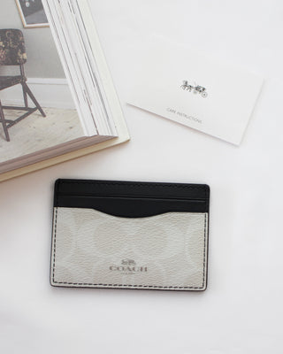COACH CARD CASE IN SIGNATURE CANVAS - LovelyMadness Clothing Online Fashion Malaysia