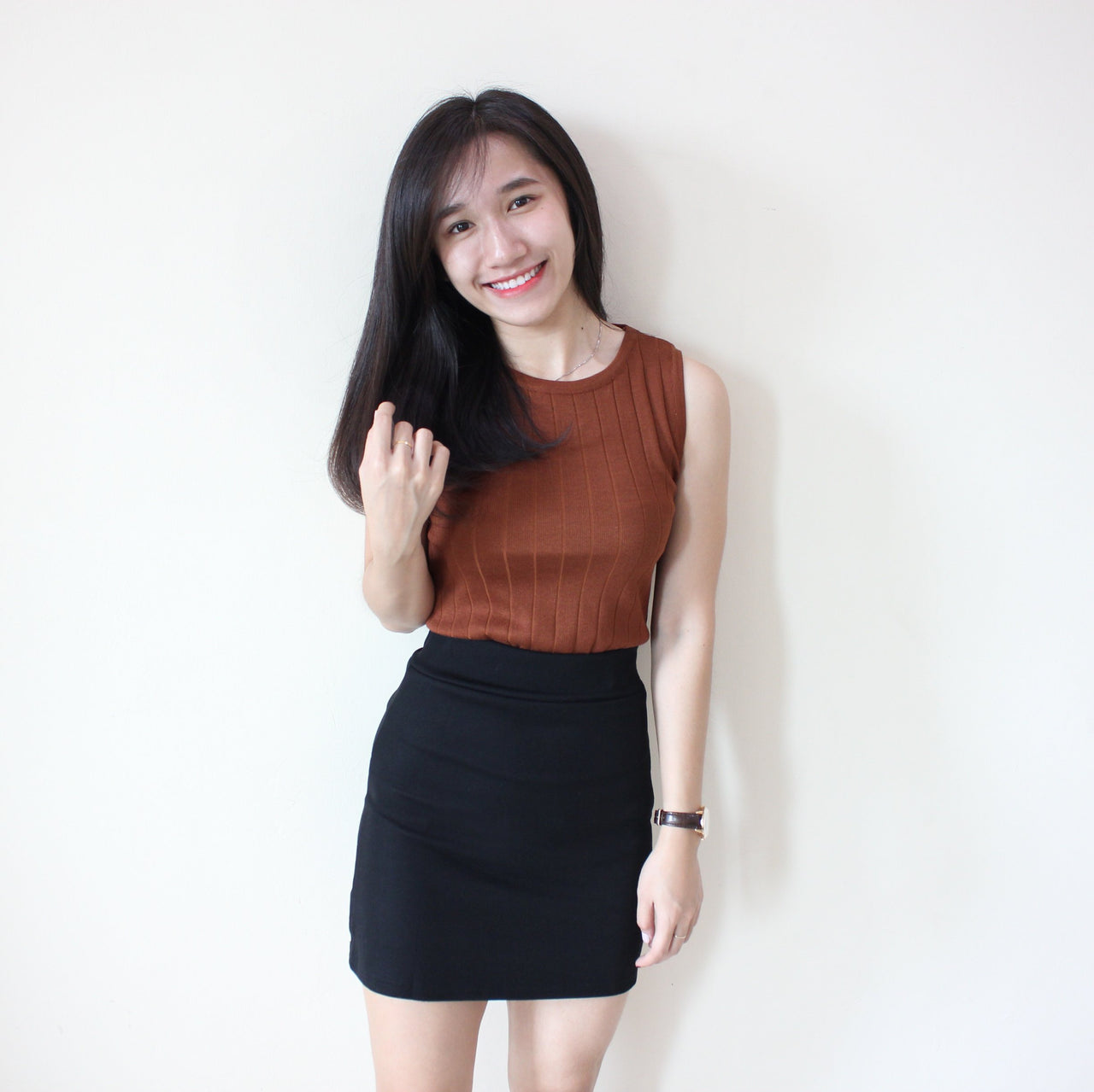 Rib Sleeveless Top