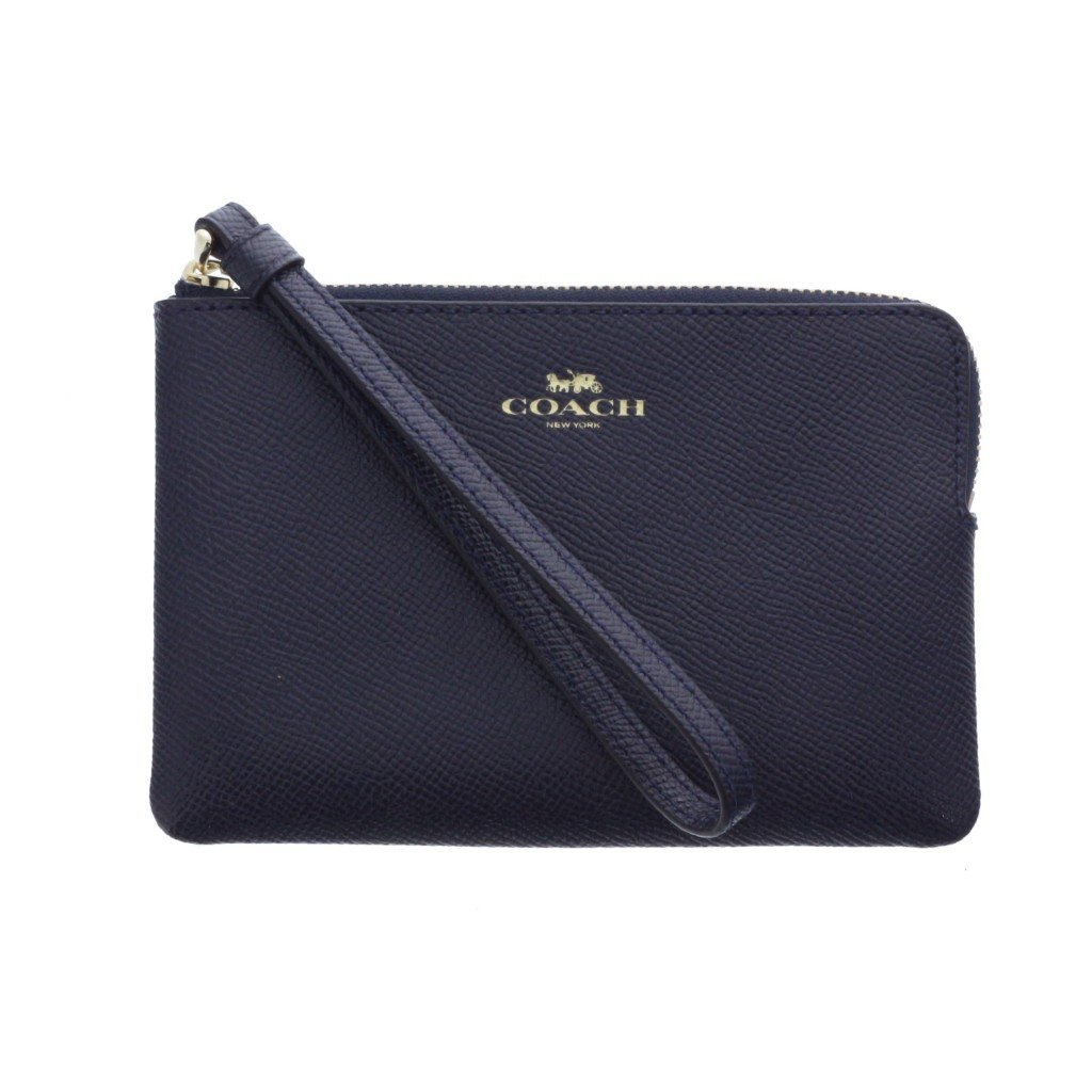 COACH CORNER ZIP WRISTLET IN CROSSGRAIN LEATHER - LovelyMadness Clothing Malaysia