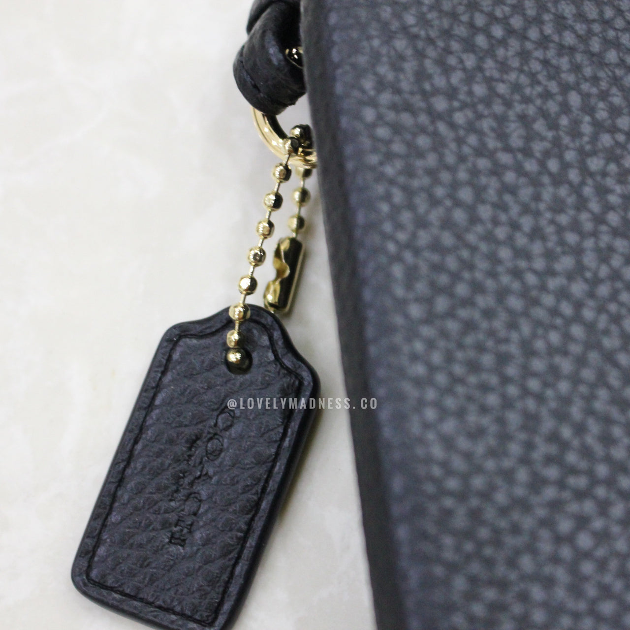 COACH DOUBLE CORNER ZIP WALLET POLISHED PEBBLE LEATHER - LovelyMadness Clothing Online Fashion Malaysia