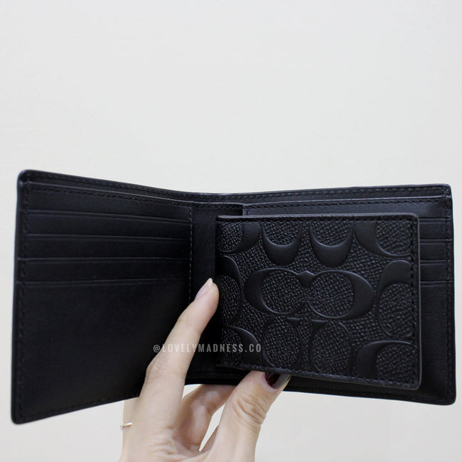 COACH COMPACT ID WALLET IN SIGNATURE CROSSGRAIN LEATHER - Lovely Madness