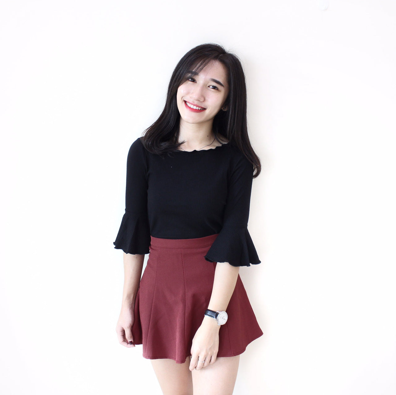 Quarter Flare Sleeve Top - LovelyMadness Clothing Online Fashion Malaysia
