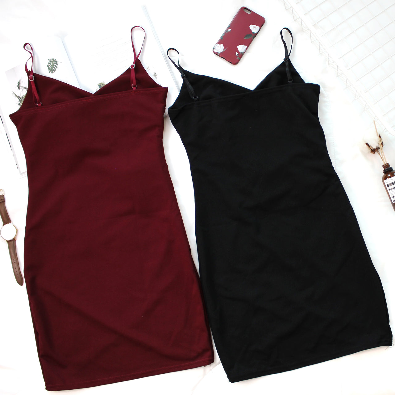 Deep V Bodycon Dress v2