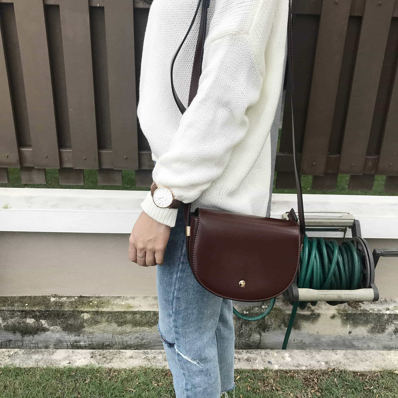 Semicircle Sling Bag - LovelyMadness Clothing Online Fashion Malaysia
