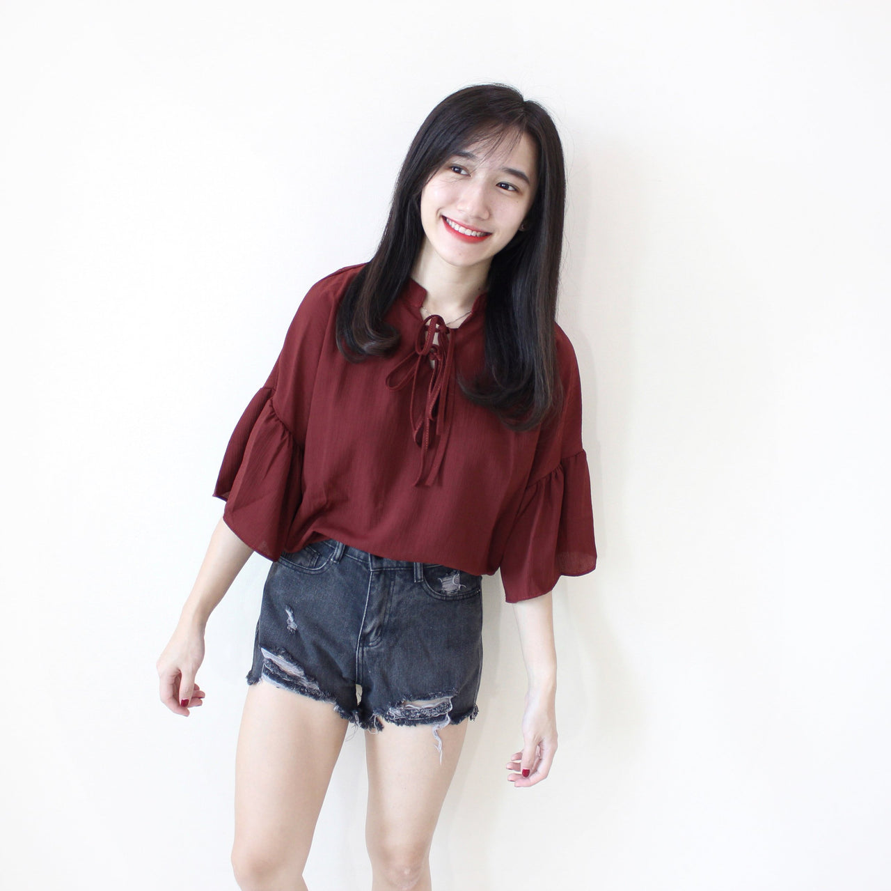 Ribbon Flare Dolly Top - LovelyMadness Clothing Online Fashion Malaysia